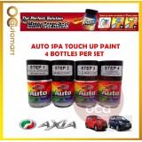 PERODUA Axia Original Touch Up Paint - AUTOSPA Touch Up Combo Set (4 Bottles Per Set)