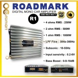 ROADMARK R1 CAR AUDIO 5000 MAX WATT DIGITAL MONO-BLOCK AMPLIFIER