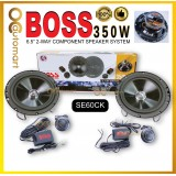"Boss 6.5"" 2 Way Component Speaker System Car Speaker 350W (SE60CK)"