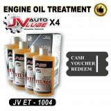 ( Cash Voucher Redeem ) 4 Bottle Original JV Auto Lube - Engine Oil Treatment (JV ET-1004 )