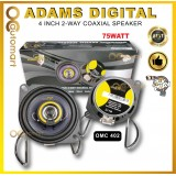 "Adams Digital 4""Inch 2-Way Coaxial Plug & Play Speaker Myvi Lagi Best / Myvi Old / Myvi Icon OMC-402"