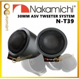 Nakamichi N-T39 30mm Neodymium Magnet Silk Dome Flush Mount Car Tweeter