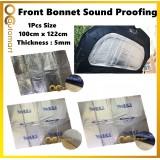 Car Front Bonnet Aluminium Foam Sponge 100cm x 122cm Heat Protection Car Soundproof Sound Proof 1PCS