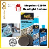 ( Free Gift ) Meguiar's G2970 Two Step Headlight Restoration Kit 118ml Headlamp Restore Cleaner Meguiars