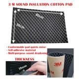3 M (80CMX50CM) (PCS) Wave Sound Insulation Cotton Pad Acoustic Heat Noise Dampening Sponge Foam Soundproof Sound Proof