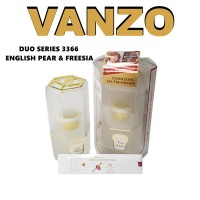 VANZO Duo Series 3366 English Pear & Freesia Sterilizing Air Freshener Perfume