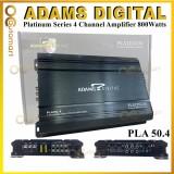 Adams Digital 4 Channel High Power Amplifier PLA 50.4 Platinum Series 800 Watts 4ch Amp Car Amplifier