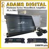 Adams Digital Class D MonoBlock Power Amplifier 1000Watts PLA 500.1 Car Amp Mono Block For Subwoofer With Bass Control