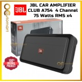 JBL Club Series 4ch Car Amplifier Club A754 High Performance 4 Channel Amp 75 x 4 RMS