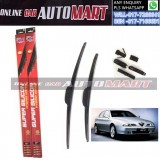 ALFA ROMEO 166 (936) Yr1998-ORIGINAL KW Super High Quality Silicone Hybrid Wiper-With Multifunction Clip-1 Pair (Made in Germany)-19 inch & 21 inch