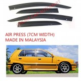 AG Air Press Door Visor Wind Deflector (Made in Malaysia) - Small 7 cm Width for DAIHATSU AURA (4DR)