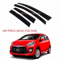 Air Press Car Window Door Visor Wind Deflector Anti UV Light 8cm (4PCS/SET) for Perodua Axia