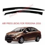 Air Press Car Window Door Visor Wind Deflector Anti UV Light 8cm (4PCS/SET) for Proton Persona Yr 2016