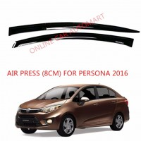 Air Press Car Window Door Visor Wind Deflector Anti UV Light 8cm (4PCS/SET) for Proton Persona Yr 2016