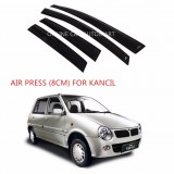 Air Press Car Window Door Visor Wind Deflector Anti UV Light 8cm (4PCS/SET) for Perodua Kancil