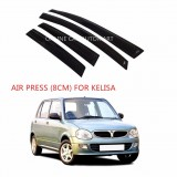 Air Press Car Window Door Visor Wind Deflector Anti UV Light 8cm (4PCS/SET) for Perodua Kelisa
