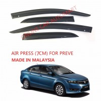 Air Press Car Window Door Visor Wind Deflector Anti UV Light 8cm (4PCS/SET) for Proton Preve