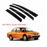 Air Press Car Window Door Visor Wind Deflector Anti UV Light 8cm (4PCS/SET) for Proton Wira
