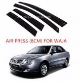 Air Press Car Window Door Visor Wind Deflector Anti UV Light 8cm (4PCS/SET) for Proton Waja