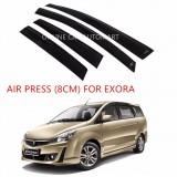 Air Press Car Window Door Visor Wind Deflector Anti UV Light 8cm (4PCS/SET) for Proton Exora