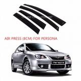 Air Press Car Window Door Visor Wind Deflector Anti UV Light 8cm (4PCS/SET) for Proton Persona Yr2005-2016