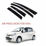Air Press Car Window Door Visor Wind Deflector Anti UV Light 8cm (4PCS/SET) for Perodua Viva