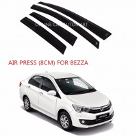 Air Press Car Window Door Visor Wind Deflector Anti UV Light 8cm (4PCS/SET) for Perodua Bezza