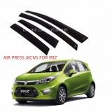 Air Press Car Window Door Visor Wind Deflector Anti UV Light 8cm (4PCS/SET) for Proton Iriz