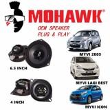 MOHAWK Plug & Play Front & Rear OEM Speaker For PROTON,PERODUA,TOYOTA,HONDA,NISSAN-(Perodua Myvi 2005/Myvi Lagi Best/Myvi Icon)
