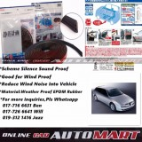 Alfa Romeo 156-SCHEME SILENCE (Double D) DIY Air Tight Slim Rubber Seal Stripe Sound & Wind Proof & Sound Proof for Car (4 Doors)