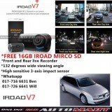Alfa Romeo 156-IROAD V7 DVR RECORDER Front Rear HD 2 Channel In Car Camera