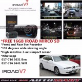 Alfa Romeo 166-IROAD V7 DVR RECORDER Front Rear HD 2 Channel In Car Camera
