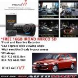 Alfa Romeo 155-IROAD V7 DVR RECORDER Front Rear HD 2 Channel In Car Camera