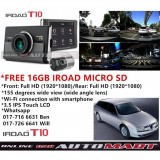 Alfa Romeo 156-iRoad T10 WIFI-LCD 2CH Blackbox Dashcam 16GB+GPS SET(WiFi Dongle, Uninterrupted Fuse Cable), FullHD(1080p), WIFI DVR Car Vehicle Video Recorder - Dash Camera Video Recorder Digital DVR Recorder