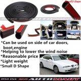Alfa Romeo 166-SCHEME SILENCE (Small D Shape) DIY Air Tight Slim Rubber Seal Stripe Sound & Wind Proof & Sound Proof for Car (4 Doors)